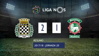 Liga NOS (20ªJ): Resumo Boavista FC 2-1 Marítimo M.