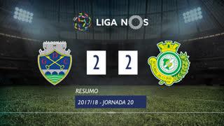 Liga NOS (20ªJ): Resumo GD Chaves 2-2 Vitória FC