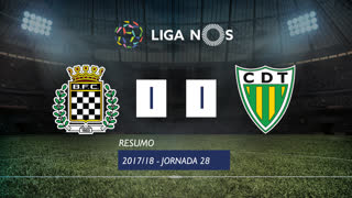 Liga NOS (28ªJ): Resumo Boavista FC 1-1 CD Tondela