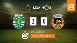 Liga NOS (27ªJ): Resumo Flash Sporting CP 2-0 Rio Ave FC