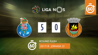 Liga NOS (23ªJ): Resumo Flash FC Porto 5-0 Rio Ave FC