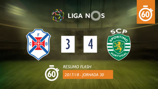 Liga NOS (30ªJ): Resumo Flash Belenenses 3-4 Sporting CP