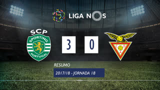 Liga NOS (18ªJ): Resumo Sporting CP 3-0 CD Aves
