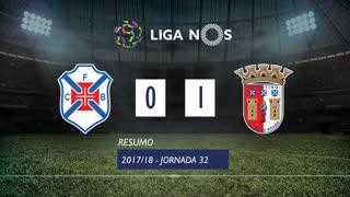 Liga NOS (32ªJ): Resumo Belenenses SAD 0-1 SC Braga