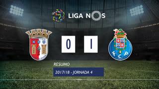 Liga NOS (4ªJ): Resumo SC Braga 0-1 FC Porto