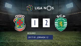 Liga NOS (12ªJ): Resumo FC P.Ferreira 1-2 Sporting CP