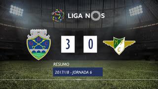 Liga NOS (6ªJ): Resumo GD Chaves 3-0 Moreirense FC