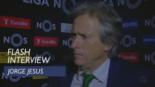 Liga (33ª): Flash interview Jorge Jesus