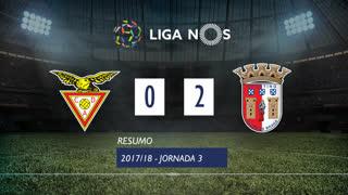 Liga NOS (3ªJ): Resumo CD Aves 0-2 SC Braga