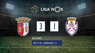 Liga NOS (12ªJ): Resumo SC Braga 3-1 CD Feirense