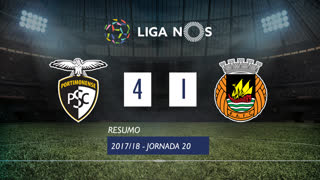 Liga NOS (20ªJ): Resumo Portimonense 4-1 Rio Ave FC