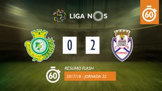Liga NOS (32ªJ): Resumo Flash Vitória FC 0-2 CD Feirense