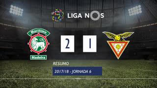 Liga NOS (6ªJ): Resumo Marítimo M. 2-1 CD Aves