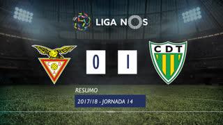 Liga NOS (14ªJ): Resumo CD Aves 0-1 CD Tondela