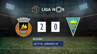 Liga NOS (28ªJ): Resumo Rio Ave FC 2-0 Estoril Praia