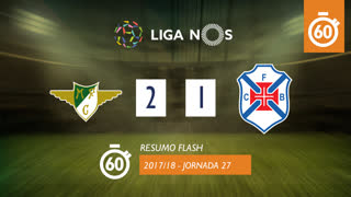 Liga NOS (27ªJ): Resumo Flash Moreirense FC 2-1 Belenenses