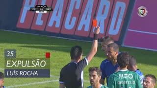 CD Feirense, Expulsão, Luís Rocha aos 35'