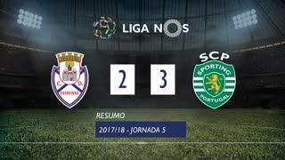 Liga NOS (5ªJ): Resumo CD Feirense 2-3 Sporting CP