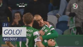 GOLO! Sporting CP, Bas Dost aos 21', Sporting CP 1-0 Marítimo M.