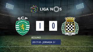 Liga NOS (31ªJ): Resumo Sporting CP 1-0 Boavista FC