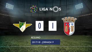 Liga NOS (9ªJ): Resumo Moreirense FC 0-1 SC Braga