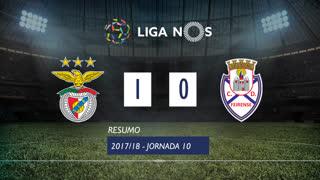 Liga NOS (10ªJ): Resumo SL Benfica 1-0 CD Feirense