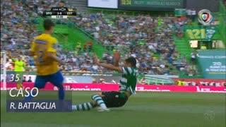 Sporting CP, Caso, Rodrigo Battaglia aos 35'