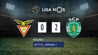 Liga NOS (1ªJ): Resumo CD Aves 0-2 Sporting CP