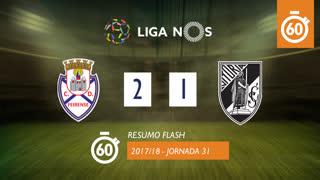 Liga NOS (31ªJ): Resumo Flash CD Feirense 2-1 Vitória SC