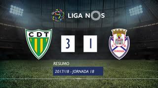 Liga NOS (18ªJ): Resumo CD Tondela 3-1 CD Feirense