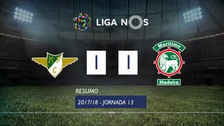 Liga NOS (13ªJ): Resumo Moreirense FC 1-1 Marítimo M.