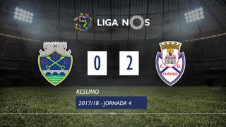 Liga NOS (4ªJ): Resumo GD Chaves 0-2 CD Feirense