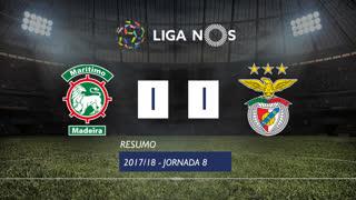 Liga NOS (8ªJ): Resumo Marítimo M. 1-1 SL Benfica
