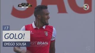 GOLO! SC Braga, Dyego Sousa aos 17', SC Braga 1-0 Estoril Praia