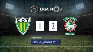 Liga NOS (27ªJ): Resumo CD Tondela 1-2 Marítimo M.