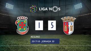 Liga NOS (30ªJ): Resumo FC P.Ferreira 1-5 SC Braga