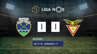 Liga NOS (17ªJ): Resumo GD Chaves 1-1 CD Aves