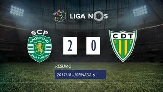 Liga NOS (6ªJ): Resumo Sporting CP 2-0 CD Tondela