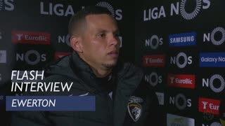 Liga (24ª): Flash interview Ewerton