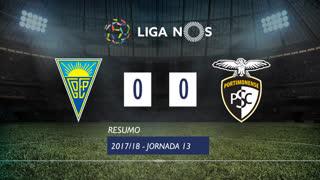 Liga NOS (13ªJ): Resumo Estoril Praia 0-0 Portimonense