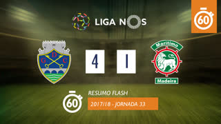 Liga NOS (33ªJ): Resumo Flash GD Chaves 4-1 Marítimo M.