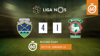 Liga NOS (33ªJ): Resumo Flash GD Chaves 4-1 Marítimo M.