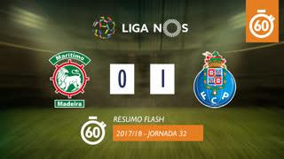 Liga NOS (32ªJ): Resumo Flash Marítimo M. 0-1 FC Porto