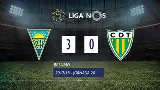 Liga NOS (20ªJ): Resumo Estoril Praia 3-0 CD Tondela