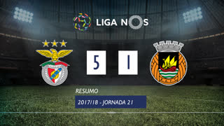 Liga NOS (21ªJ): Resumo SL Benfica 5-1 Rio Ave FC