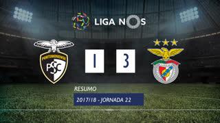 Liga NOS (22ªJ): Resumo Portimonense 1-3 SL Benfica
