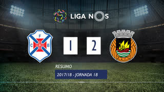 Liga NOS (18ªJ): Resumo Os Belenenses 1-2 Rio Ave FC
