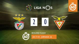 Liga NOS (26ªJ): Resumo Flash SL Benfica 2-0 CD Aves