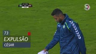 Vitória FC, Expulsão, César aos 73'