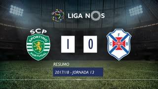 Liga NOS (13ªJ): Resumo Sporting CP 1-0 Os Belenenses